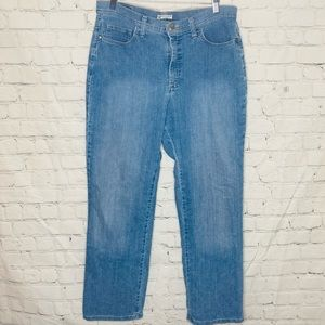 Lee original blue light wash straight leg jeans